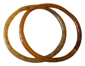 Angela Caputi Angela Caputi tortoise bangle resin bracelets