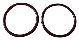 Angela Caputi Angela Caputi oxblood bangle resin bracelets
