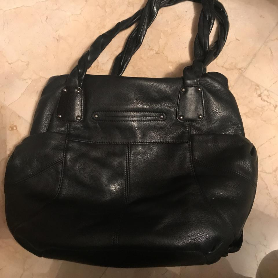 Handbag Lining Material : B makowsky purse black leather with material lining hobo