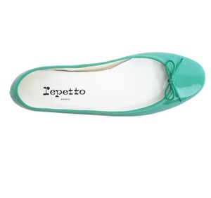 Repetto Pattern Leather French Made In France Ballet Green Flats