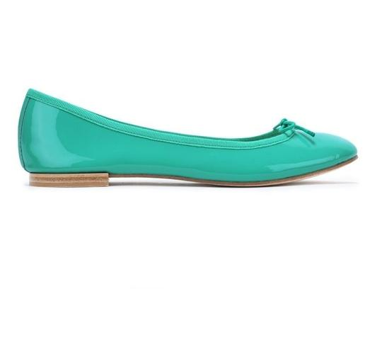 Repetto Pattern Leather French Made In France Ballet Green Flats Image 3