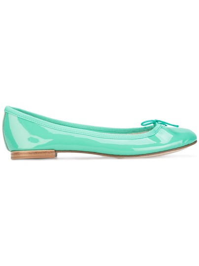 Repetto Pattern Leather French Made In France Ballet Green Flats Image 5