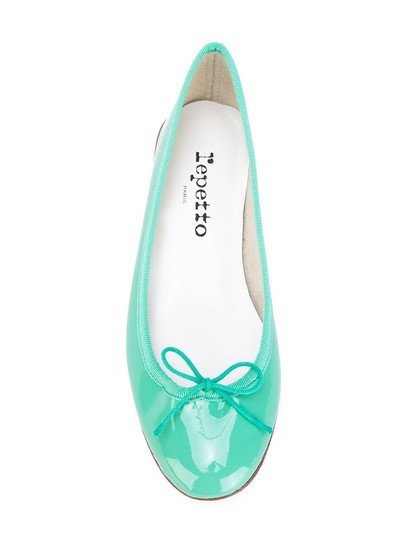 Repetto Pattern Leather French Made In France Ballet Green Flats Image 6