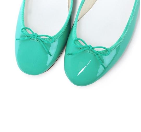 Repetto Pattern Leather French Made In France Ballet Green Flats Image 7