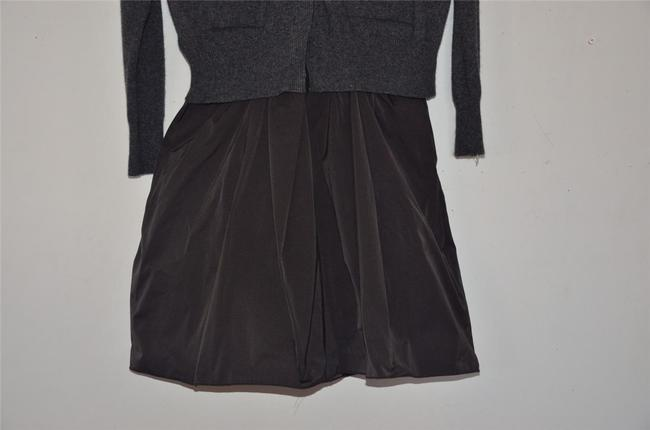 Hache short dress Grey Italian Chic Silk Cardigan Cashmere on Tradesy Image 2
