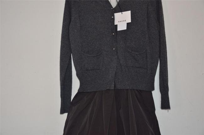 Hache short dress Grey Italian Chic Silk Cardigan Cashmere on Tradesy Image 9