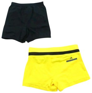 adidas By Stella McCartney Running Exercise Stretchy New Balance Sport Yellow black Shorts