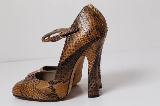 Marc Jacobs Snake Print Brown Pumps Image 1