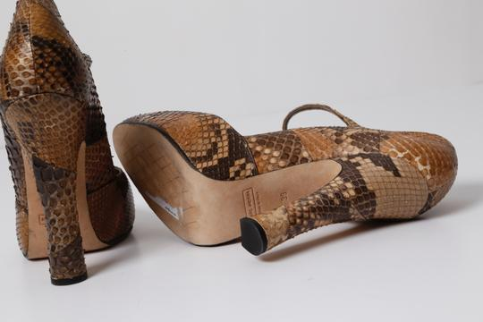 Marc Jacobs Snake Print Brown Pumps Image 10