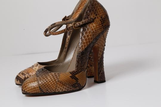 Marc Jacobs Snake Print Brown Pumps Image 2