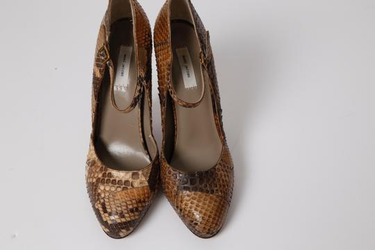 Marc Jacobs Snake Print Brown Pumps Image 3