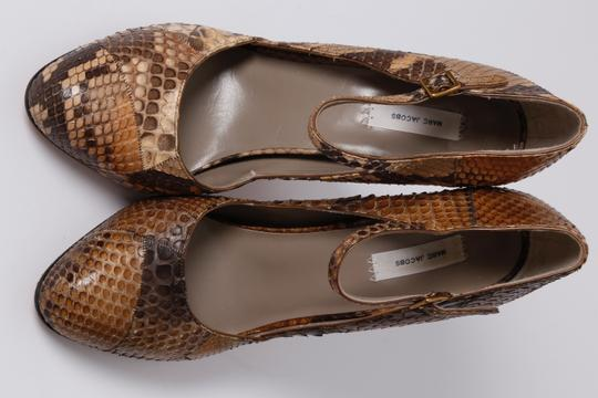Marc Jacobs Snake Print Brown Pumps Image 5
