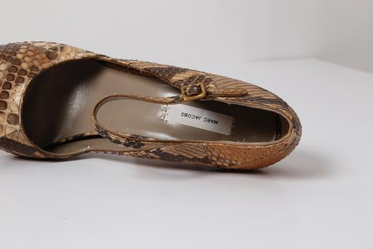 Marc Jacobs Snake Print Brown Pumps Image 6