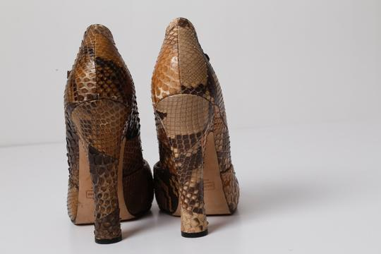 Marc Jacobs Snake Print Brown Pumps Image 7