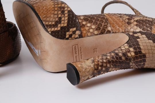 Marc Jacobs Snake Print Brown Pumps Image 8