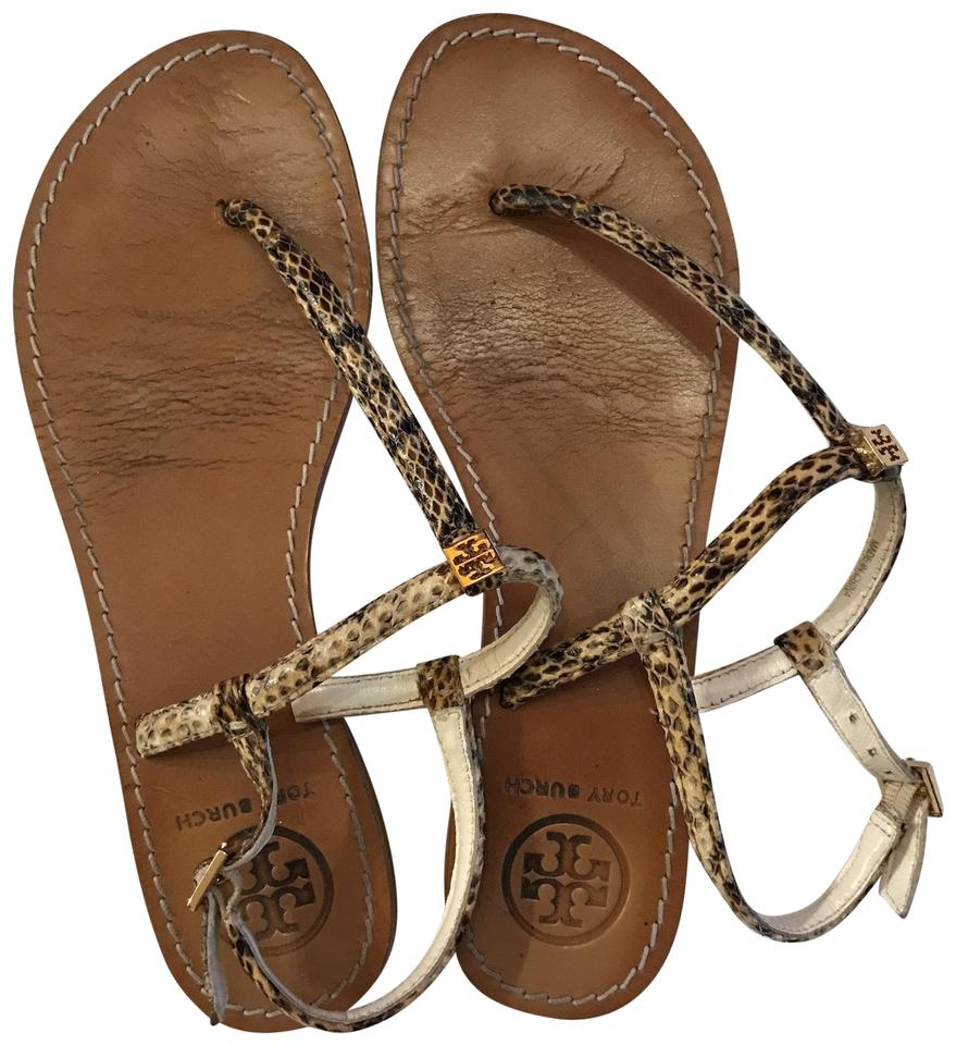 70bf84284f44 Tory Burch Snake T T-strap Sandals Size US 7 Regular (M