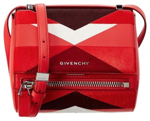 Givenchy Mini Pandora Box Fur Cross Body Bag