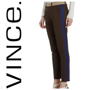 Vince Skinny Pants dark olive green navy and tan