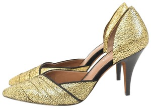 Donald J. Pliner Metallic Crackled Pointy Toe Nwot Gold Pumps