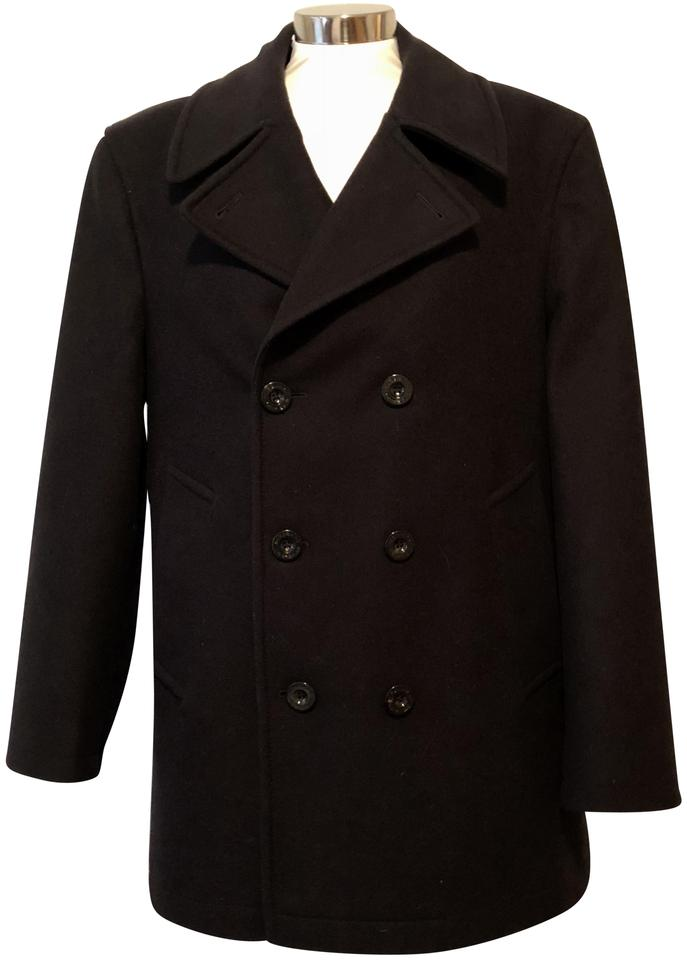 a3618cf17 Burberry London Navy Men s Lambswool Double Breasted Coat Size 14 (L ...