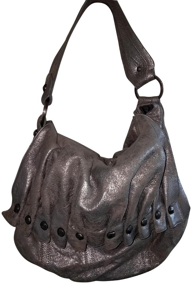 550bd81b0f3d 7 For All Mankind Hobo Bag … … Silver Leather ...