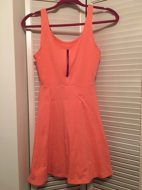 ef1b6f998f349 ... Express short dress Peach Skater Fitted Structured Summer on Tradesy  Image 1