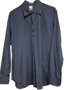 Armani Collezioni Button Down Shirt Navy Blue