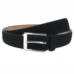 Gucci GUCCI 345658 Unisex Suede with Square Buckle Belt 100-40