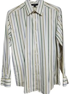 Sean John Button Down Shirt Cream multi color