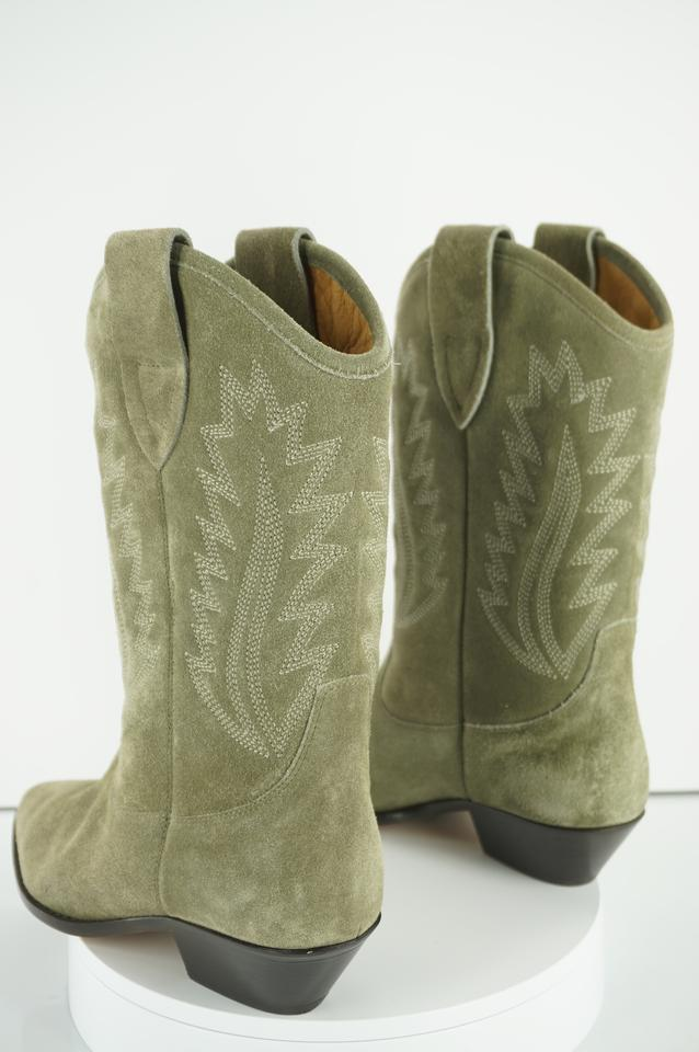 2ef0ff87eff Étoile Isabel Marant Taupe Green Suede Dallin Cowboy Boots/Booties Size EU  38 (Approx. US 8) Regular (M, B) 45% off retail