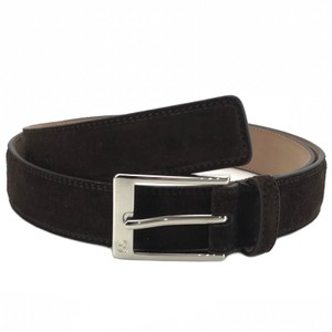 Gucci GUCCI 345658 Unisex Suede with Square Buckle Belt 90-36