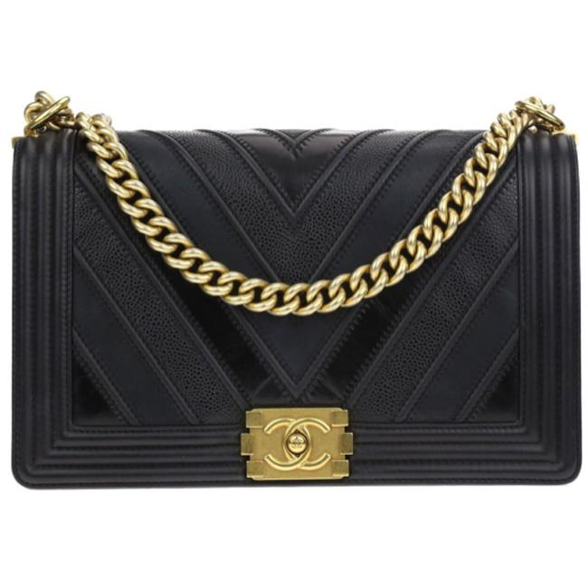 Chanel Boy Black Shoulder Bag Chanel Boy Black Shoulder Bag Image 1