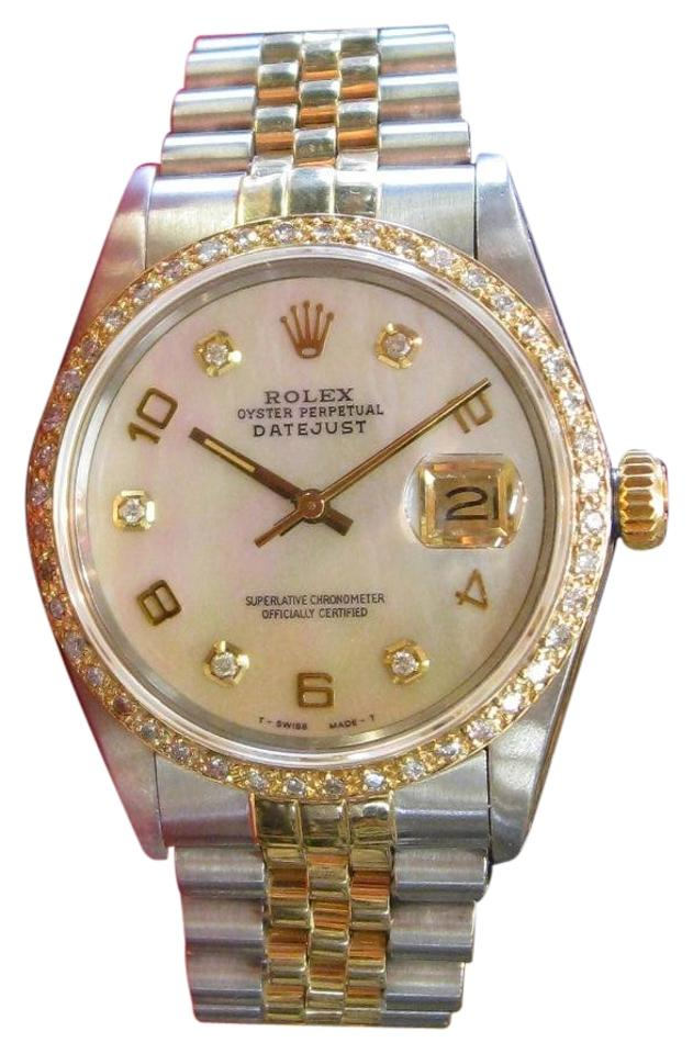 Rolex Mens Oyster Perpetual Datejust Diamonds Watch 75 Off Retail