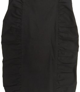 Nanette Lepore Designer Couture Ruched Pencil Sexy Skirt Black