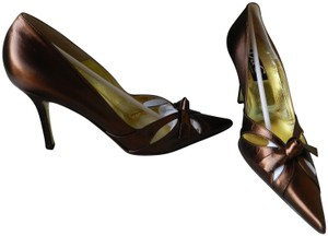 Dolce&Gabbana Pointed Toe Gold Insole Lining chocolate bronze # 252 Wash Pumps