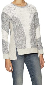 Rebecca Taylor Lace Sparkle Comfortable Spring Casual Sweater