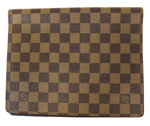 Louis Vuitton LOUIS VUITTON Damier Ebene Agenda Bureau Note Cover