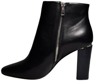 Pour La Victoire New Zippered Stacked Heel Black Boots
