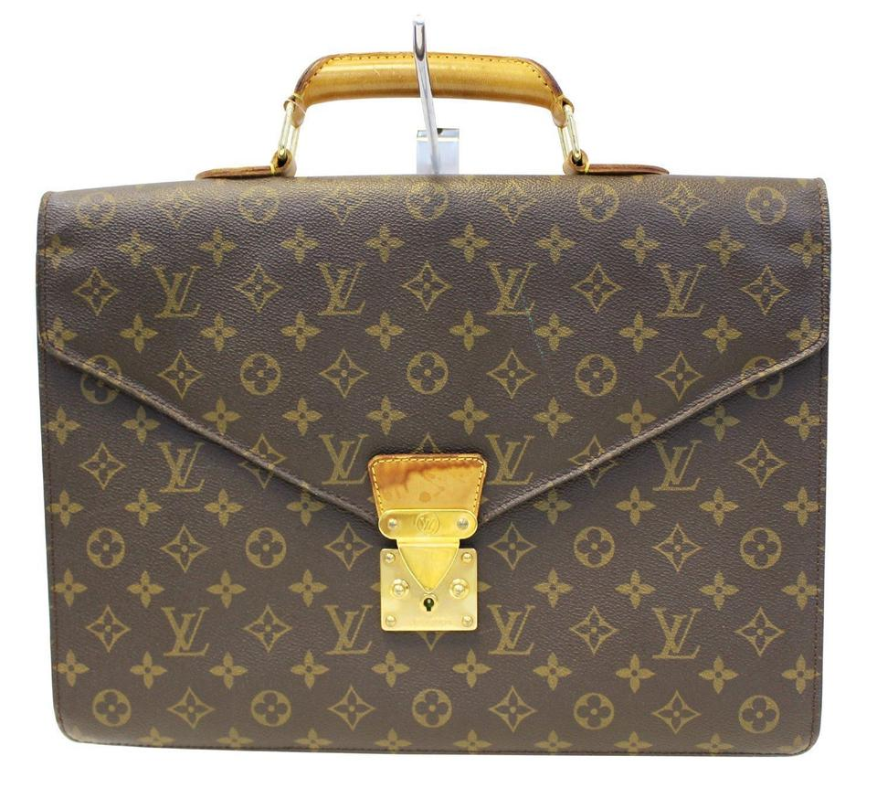 fae91b46333e Louis Vuitton Monogram Serviette Conseiller Briefcase Brown Canvas ...