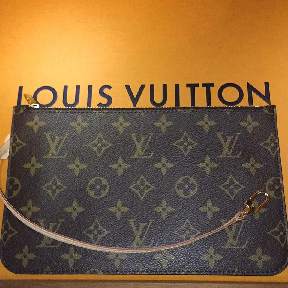 louis vuitton new 2017 made in france monogram wristlet tradesy. Black Bedroom Furniture Sets. Home Design Ideas