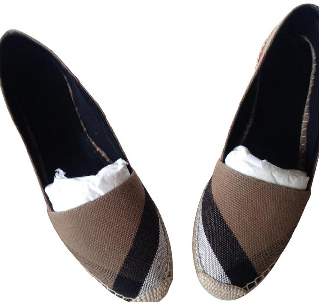 Item - Beige Classic Check Canvas Espadrilles Flats Size EU 39 (Approx. US 9) Narrow (Aa, N)
