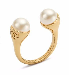 Tory Burch New Tory Burch Pearl Bud Ring - Size 7 16k Gold