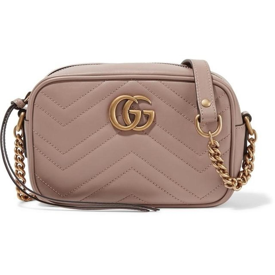 1e1abd024 Gucci Camera Marmont Gg Small Quilted Leather Shoulder Bag - Tradesy