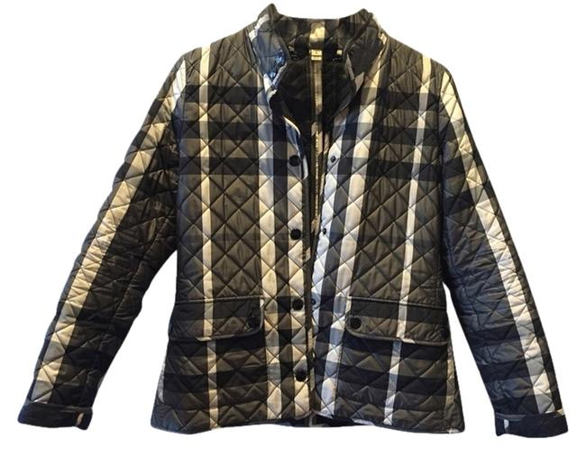 Item - Grey/Cream/Black Check Quilted Jacket Size 4 (S)