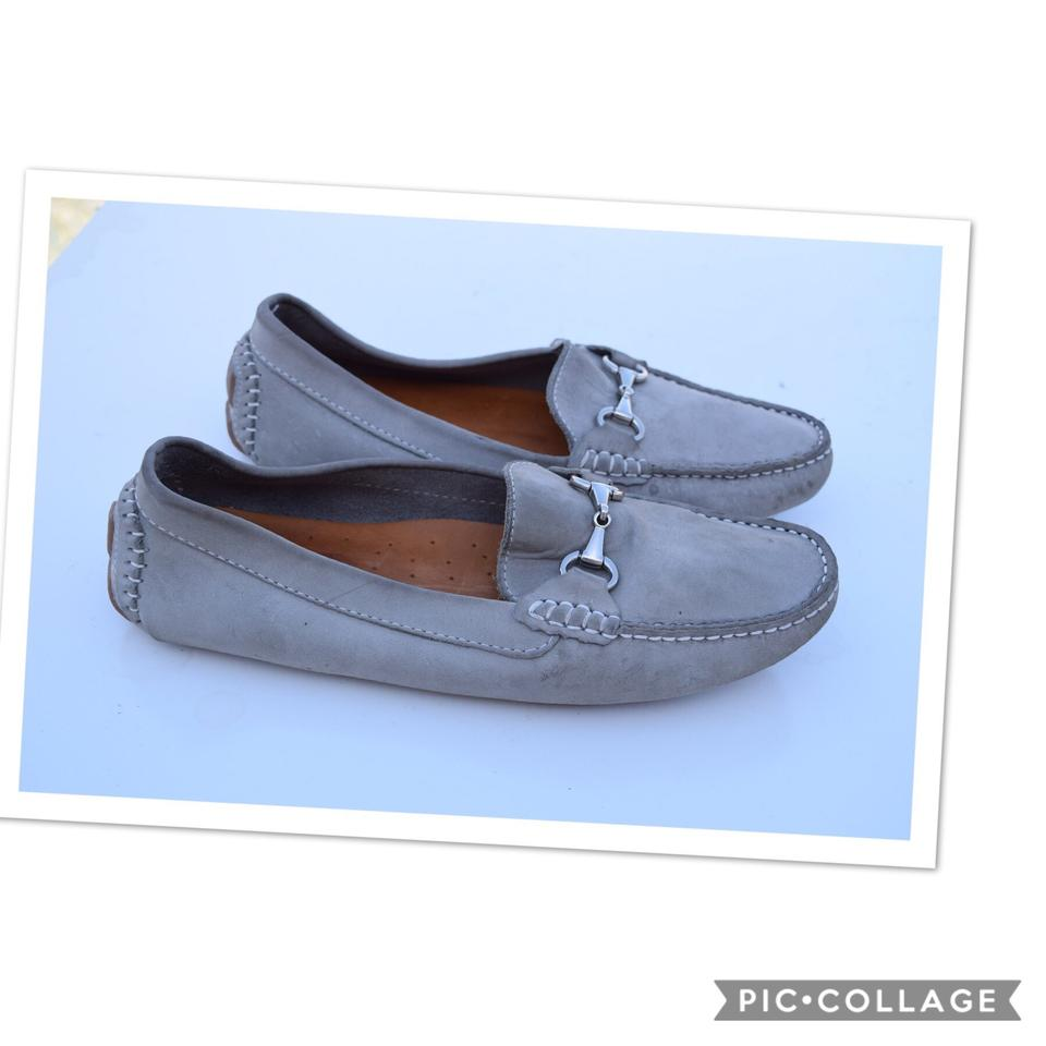984f48c28dd Gray Suede Penny Loafers Flats Size US 9 Regular (M