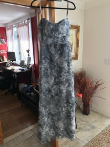 Jenny Yoo Blue Chiffon Watercolor Feminine Bridesmaid/Mob Dress Size 4 (S)