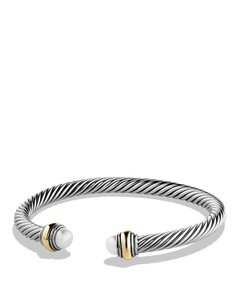 David Yurman David Yurman 5MM Pearl Cable Bracelet