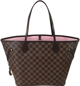 63abde2bbdf0 Louis Vuitton Shoulder Neverfull Handbag Tote in (New Never Used) Rose  Ballerine Damier Ebene