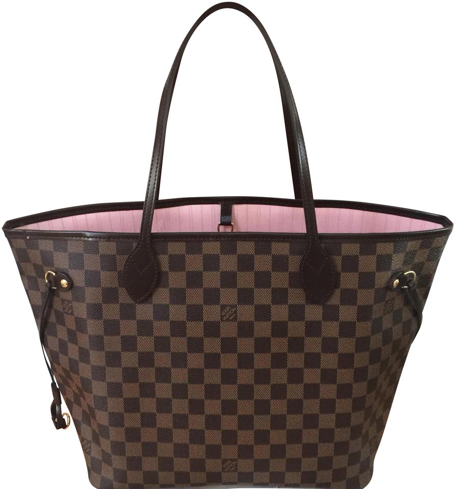 7f58ffbc4924 Louis Vuitton Neverfull Mm (New Never Used) Rose Ballerine Damier Ebene  Canvas Leather Tote