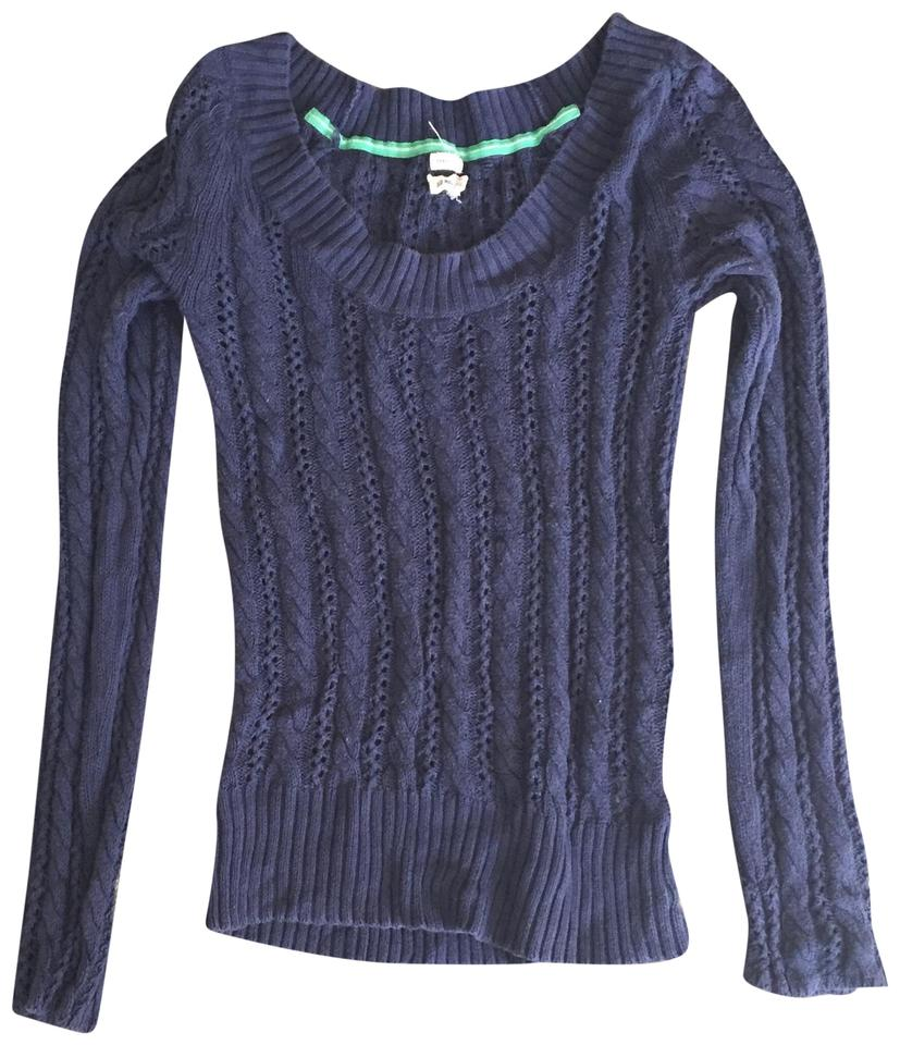 Old Navy Blue Crewneck Cable Knit Sweaterpullover Size 8 M Tradesy